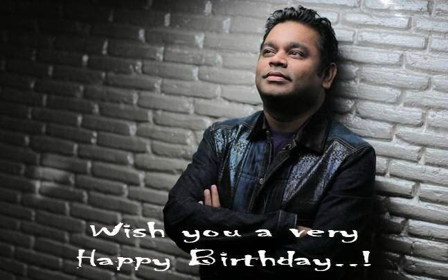 Happy birthday to you Happy birthday to you Happy birthday, dear A R Rahman Ji Happy birthday to you..!