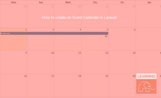 How to create an Event Calendar in Laravel