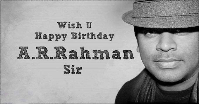 Happy birthday to Great Legendary music director........  A.R Rahman sir.....