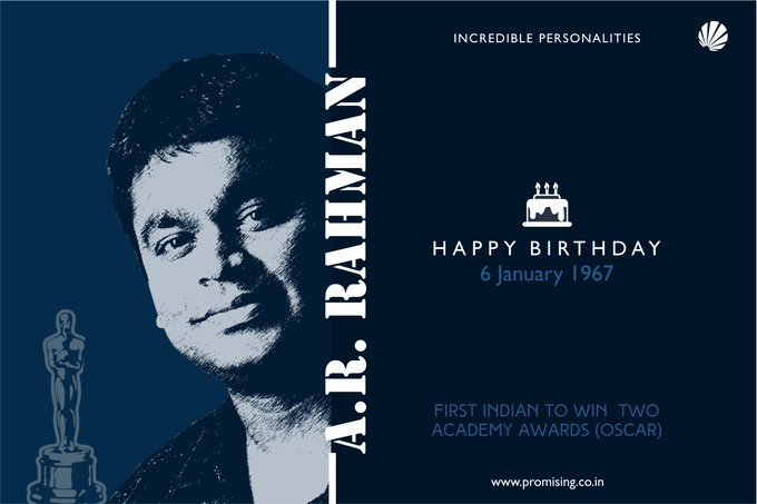 Happy birthday A.R.Rahman..A great musician, a great human being..
