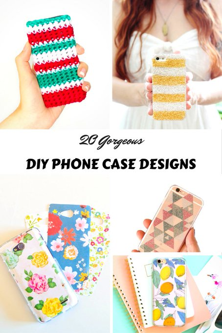 20 Gorgeous DIY Phone Case Designs