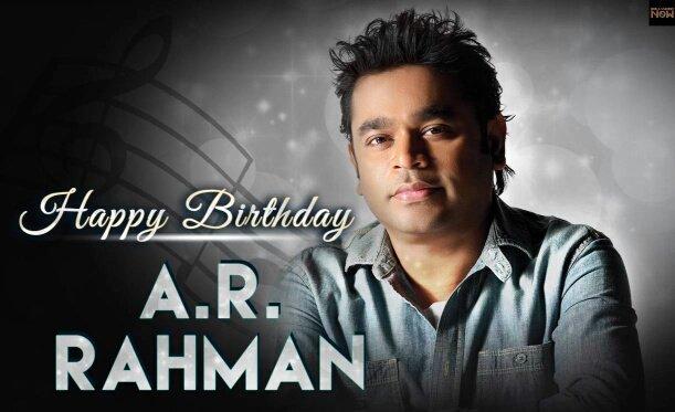 Happy birthday misic strome A R Rahman