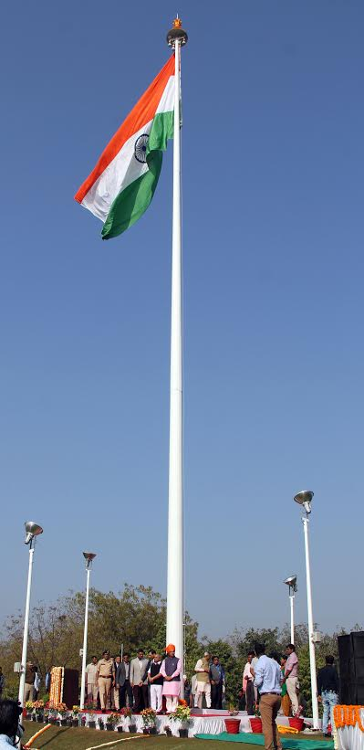 Gujarat CM unfurls state's tallest 100-feet high national flag at 'Science City'