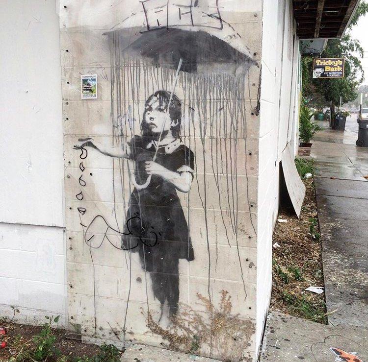 'Nola' Street Art by #Banksy in New Orleans       #art #streetart