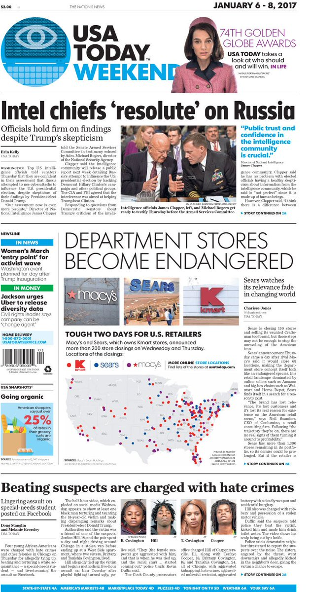 usa today paper Top 50 united states newspapers accessed on onlinenewspapers last month.