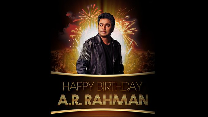 A. R. RAHMAN  I Wish You To Have A Woderrful Time On Your Day!