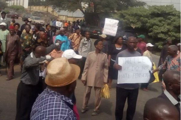 Governor Rochas Okorocha slashed pension arrears of pensioners by sixty percent resulting in mass protest in the state capital, Owerri, on Thursday.