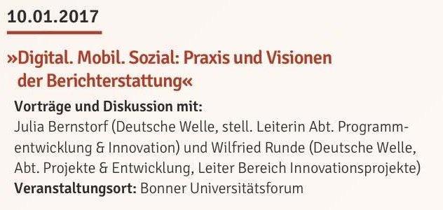 Thumbnail for Digital. Mobil. Sozial: Praxis und Visionen der Berichterstattung [Die Welt im Wandel: Real. Digital.]
