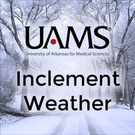 Nonessential areas closed; classes canceled; clinical areas on inclement weather policy. https://t.co/mLhMYye4nY