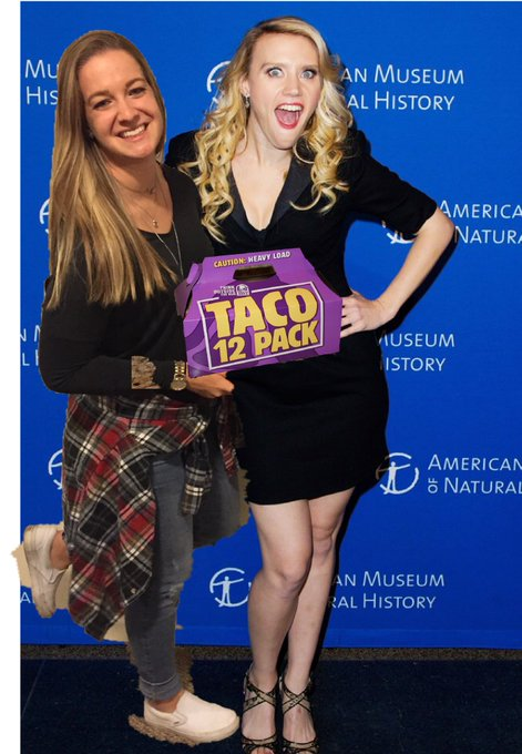 Happy bday to the wifey kate mckinnon love ya just as much as I love tacos
