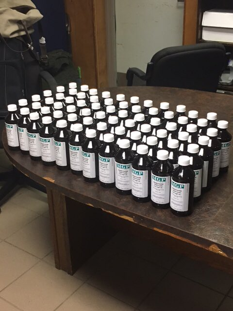 BREAKING: Beaumont officers locate 71 bottles of Promethazine during traffic stop.
