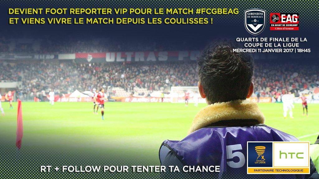 RT + FOLLOW et devenez notre HTC Foot Reporter VIP pour le 1/4 de finale de la coupe de la ligue le 11 janv ! #FCGBEAG #HTCFootReporter<br>http://pic.twitter.com/UBP5M15vpW