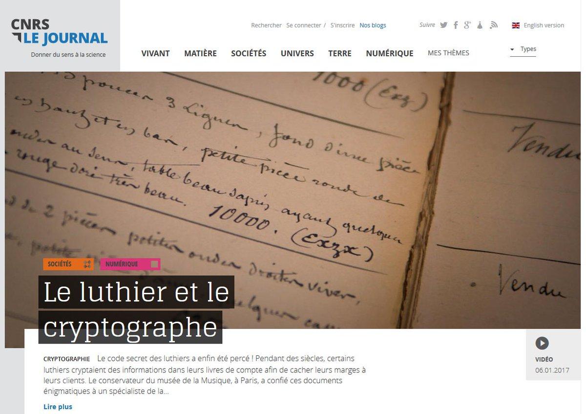 #VIDEO Le #CodeSecret des #luthiers a enfin été percé!  #Violon #Musique #Stradivarius #Cryptographie #CNRSLeJournal  https:// lejournal.cnrs.fr/videos/le-luth ier-et-le-cryptographe &nbsp; … <br>http://pic.twitter.com/BZLkANdpvm