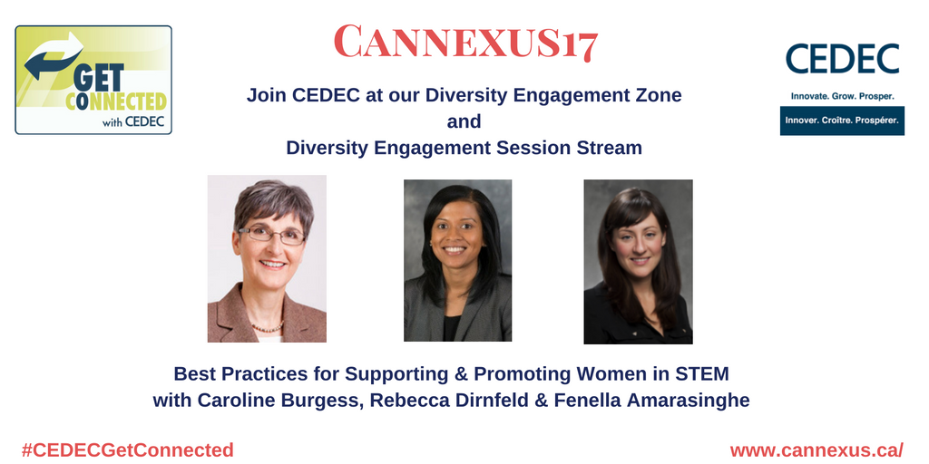 Interested in learning about best practices for supporting & promoting women in #STEM? Don't miss this: https://t.co/WoVCny5l3g #Cannexus17 https://t.co/WzxBo4PZV7