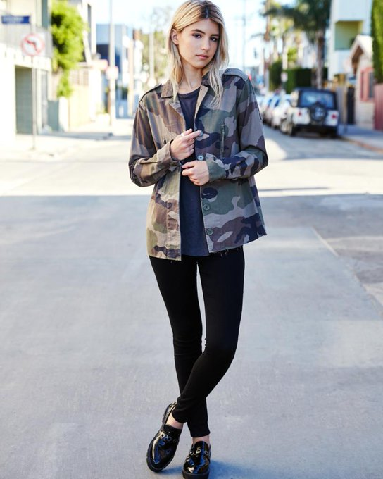 Kendall & Kylie Raw Hem Camo Print Military Jacket at PacSun.com