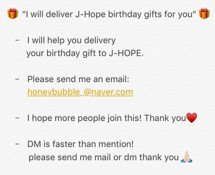 My Kpop KingdomTM On Twitter Malaysia ARMY If You Wish To Send J HOPE A Birthday Gift Can Find Me EMS Fee Share By All People Who Join