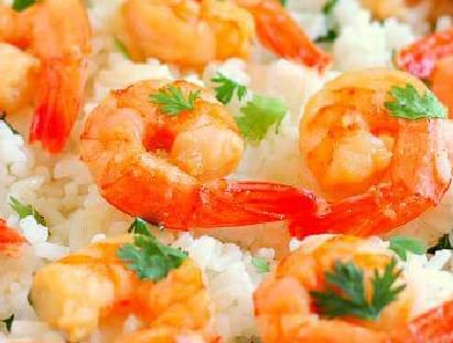 Garlic and Rice Shrimp