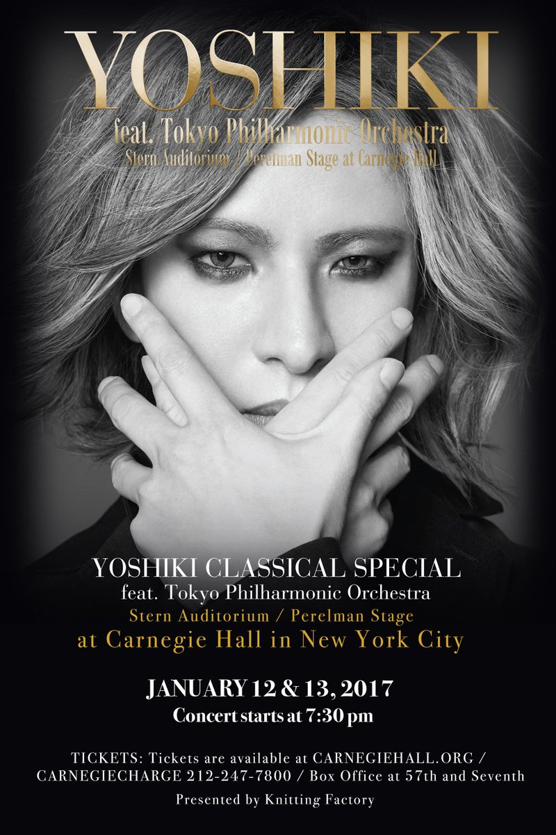 ".@JapanCultureNYC story: #XJapan's @YoshikiOfficial to Make ""Another Dream Come True"" at #CarnegieHall!  http:// bit.ly/2jcu89A  &nbsp;  <br>http://pic.twitter.com/Z8jHT5QFlH"