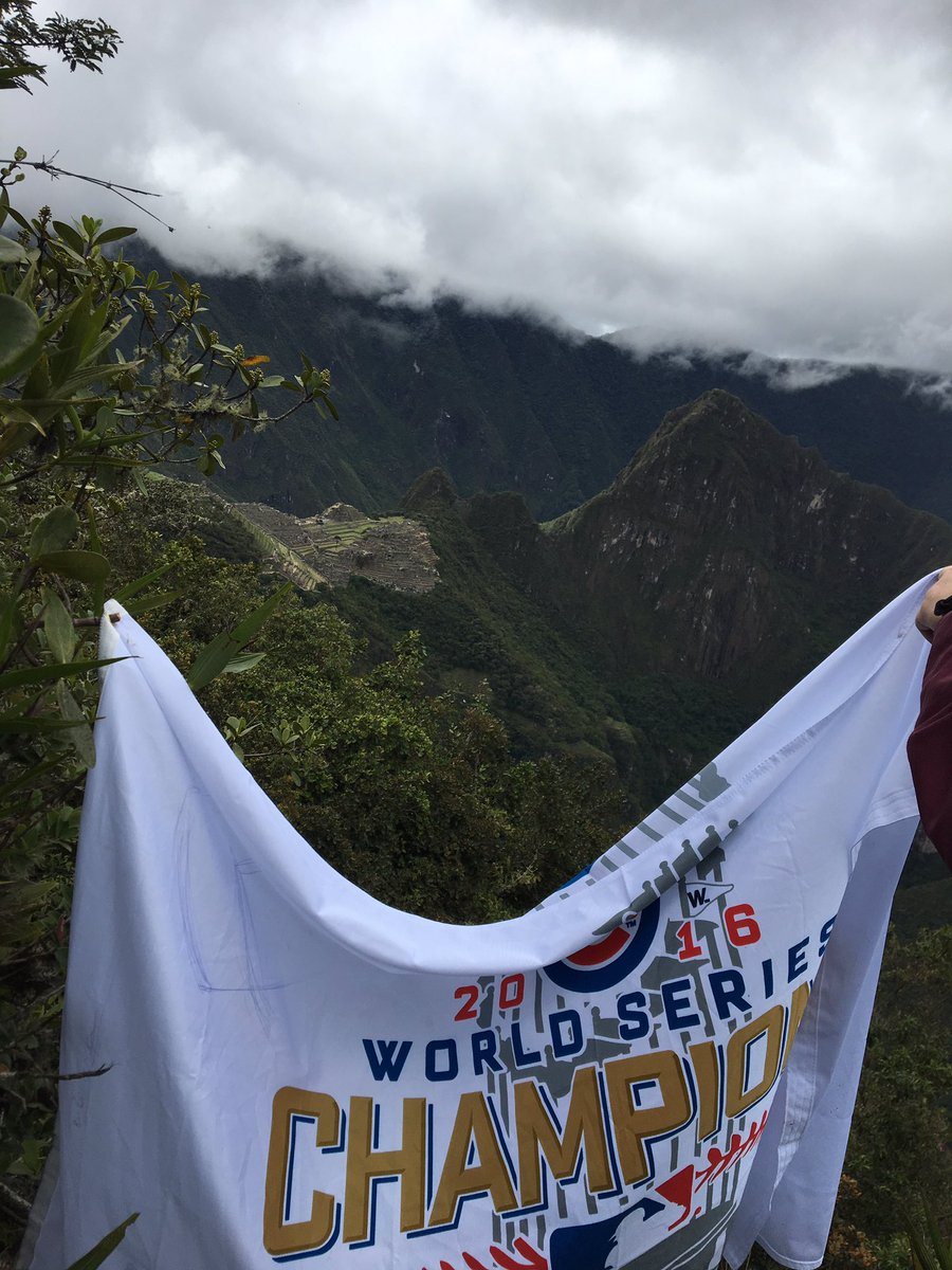 Representing @Cubs at Machu Picchu https://t.co/n6U4rgCGYz