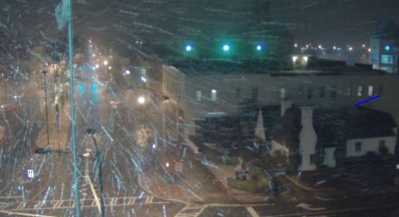 Screen grab from our tower cam in Rome. Heavy snow there. #11Alive