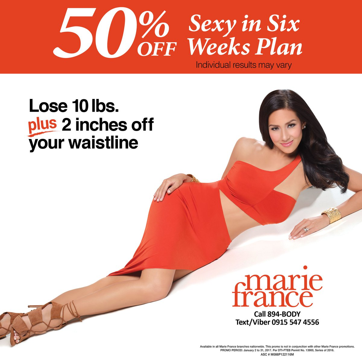 Marie France Philippines On Twitter Lose 10 Lbs 2 Inches Off