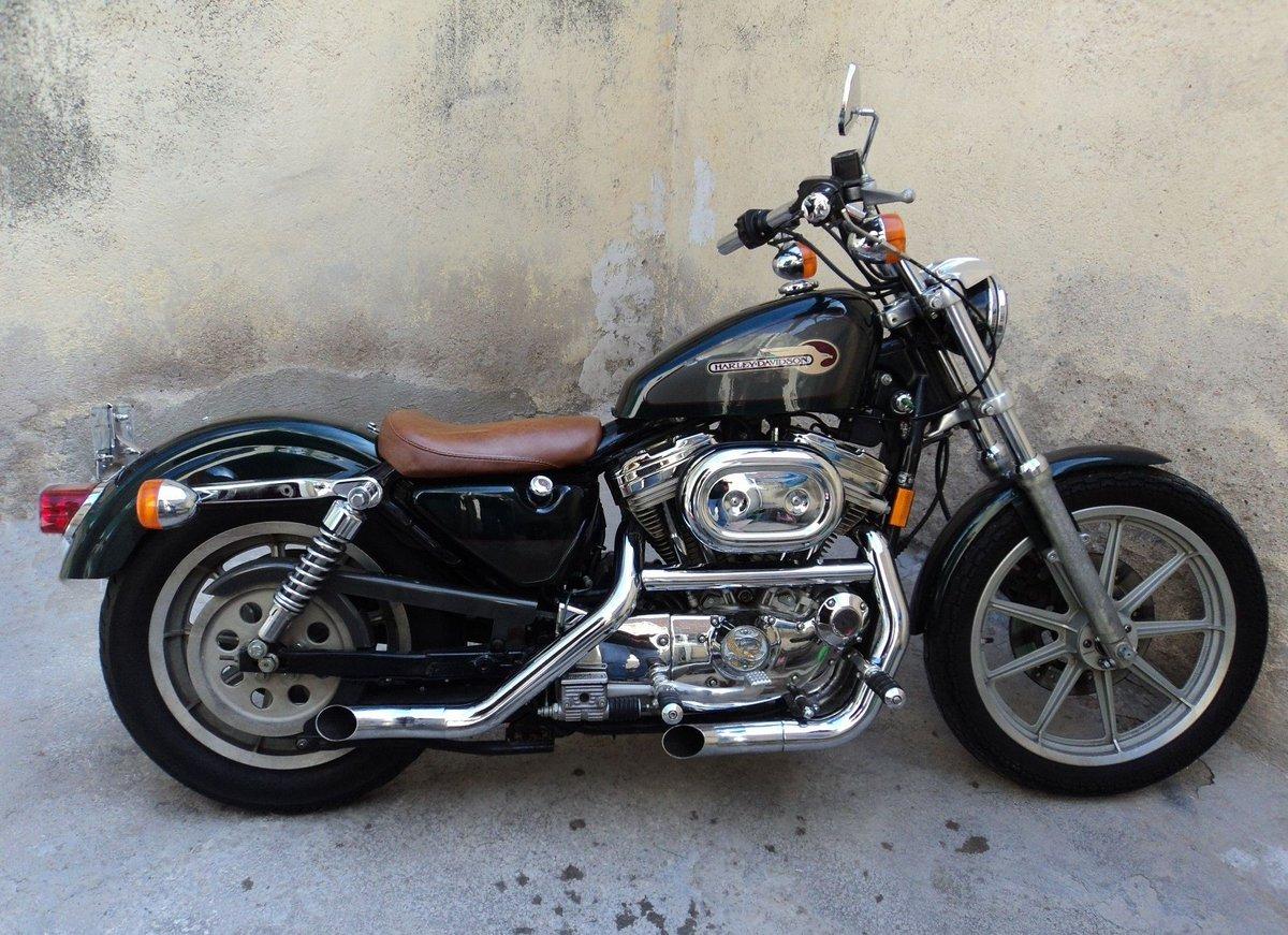Harleys Of The 1990s On Twitter 1995 Harley Davidson 883 Sportster Hugger Harleydavidson Harley Motorcycle Bikers