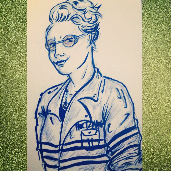 """Happy \""""Kate McKinnon\s birthday\"""" day!  here\s a very quick messy Holtz"""