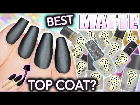 Best MATTE top coat for nails?! #diy #tutorial #beauty #makeup