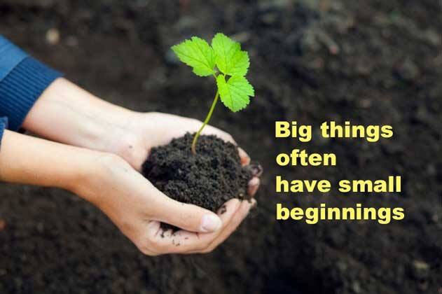 Do not despise these small beginnings, for the LORD rejoices to see the work begin.. Zechariah 4:10 NLT #beginnings <br>http://pic.twitter.com/o7FddL9QIS