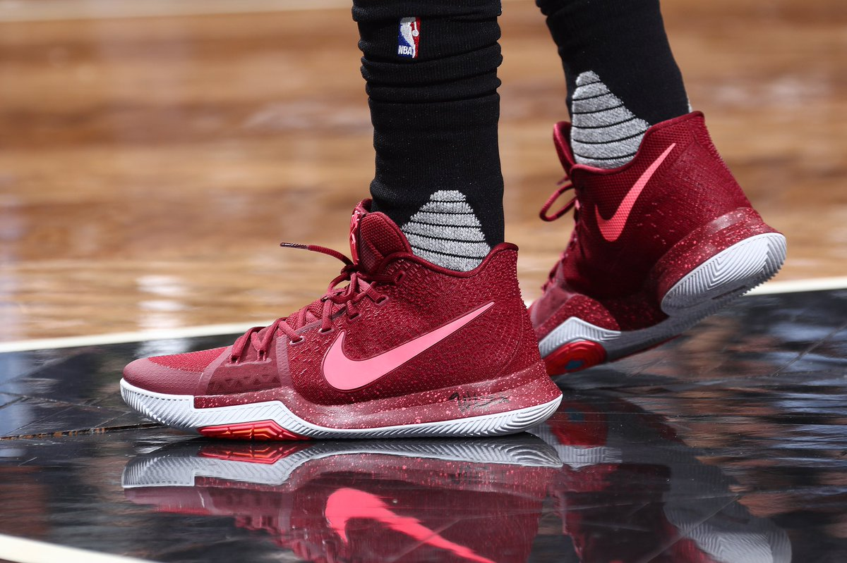 san francisco 97028 8830c ... Kyrie Irving in the Nike Kyrie 3 Warning tonight vs. Brooklyn