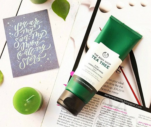 Fade Away Your Blemishes With The Body Shop Tea Tree 3-in-1 Wash.Scrub And Mask !