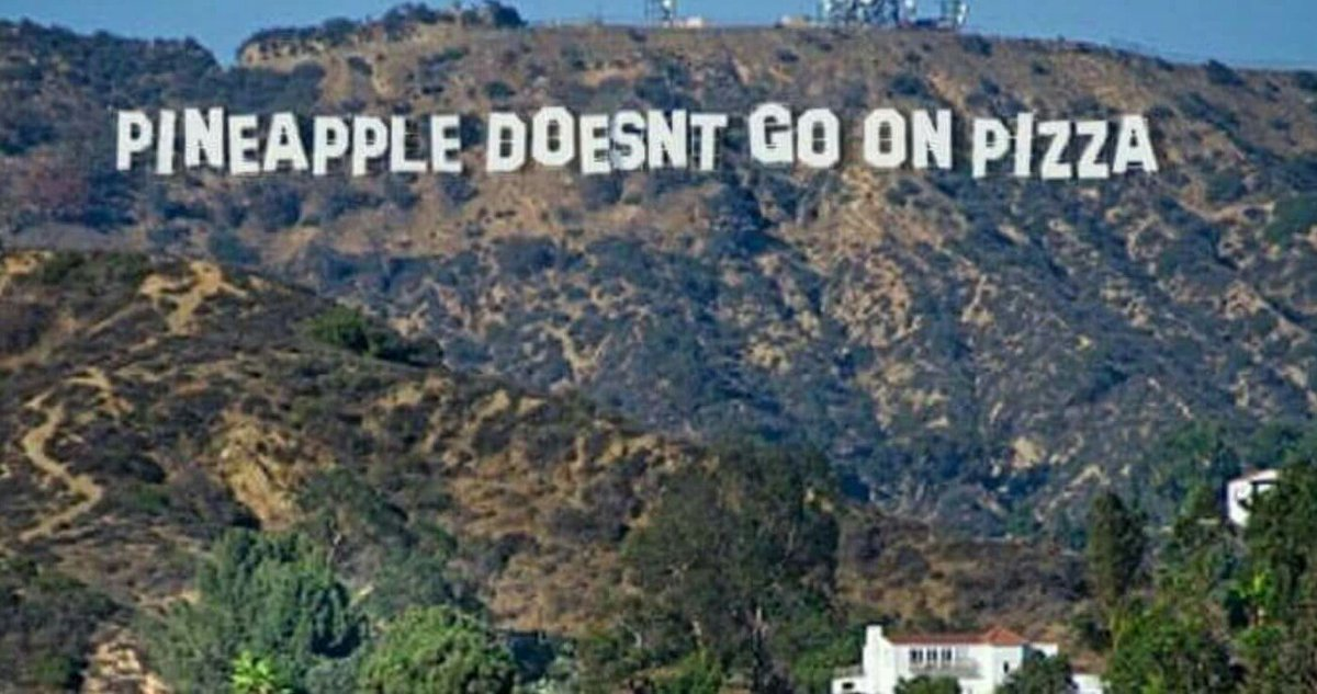 They defaced the Hollywood sign again. This time to tell the truth. https://t.co/wi8R3o0snb