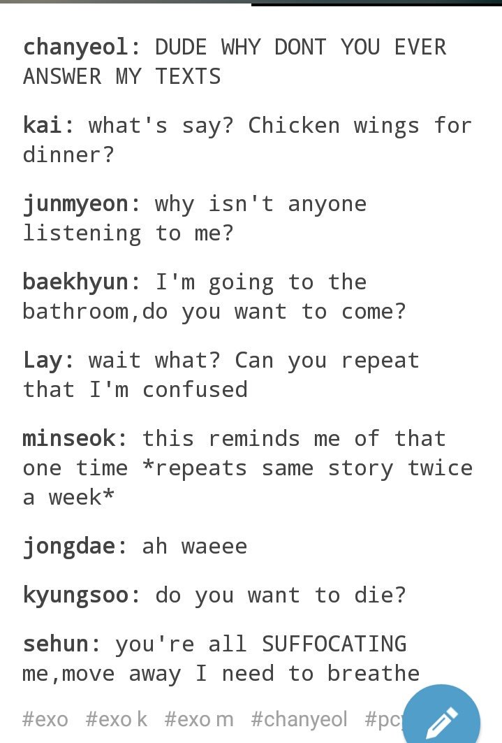 incorrect exo quotes on what each exo member probably