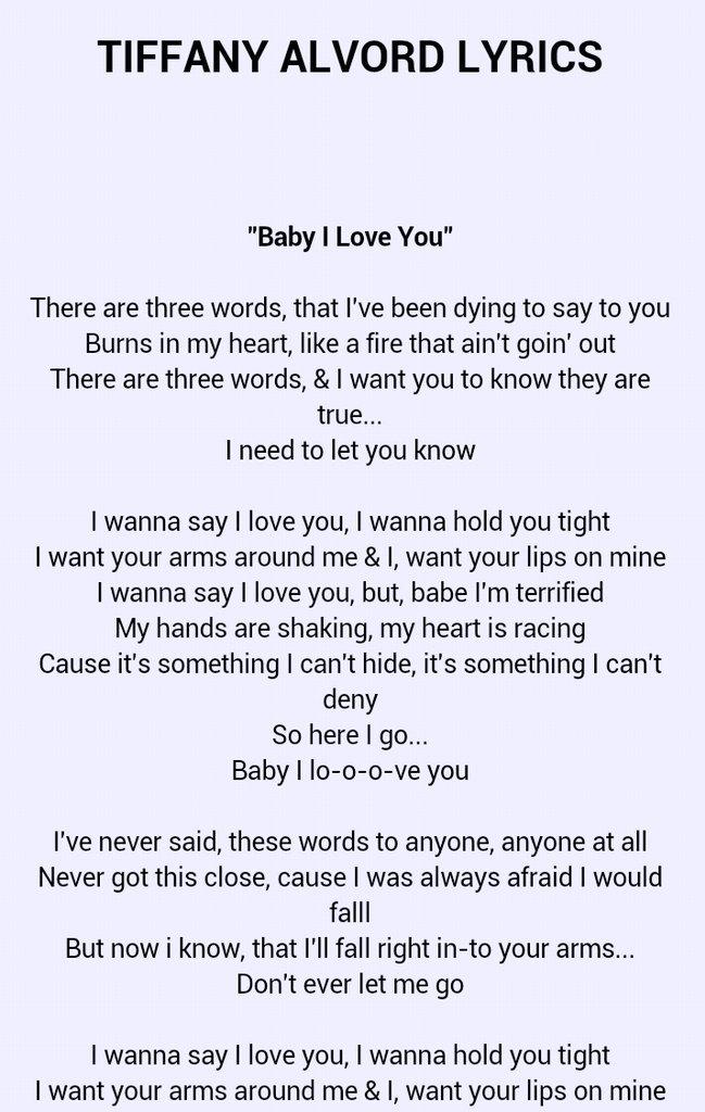 I wanna say i love you lyrics