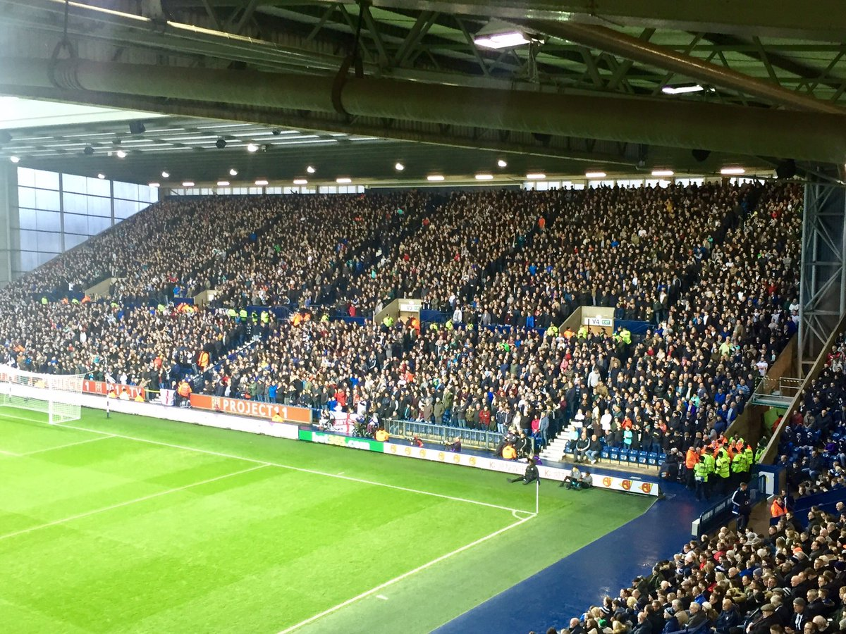 Derby fans at West Brom. Sell-out in the away end at the Hawthorns. Great noise. #dcfcfans https://t.co/1lV95AX7mE