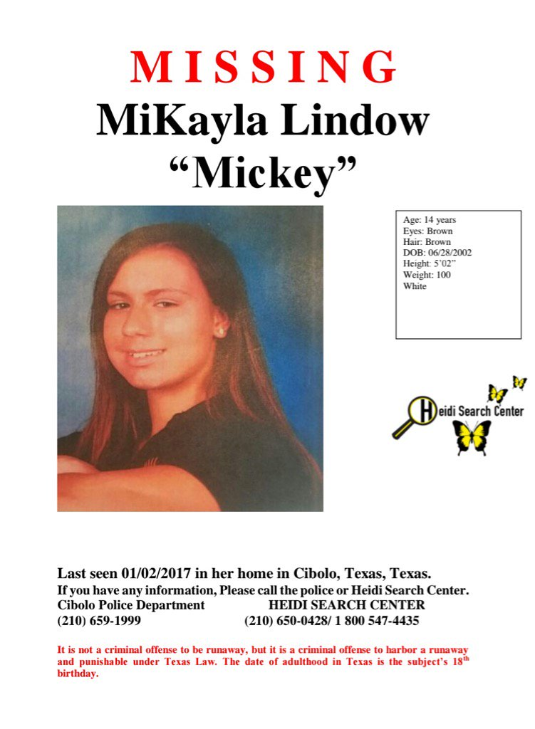 Mikayla Lindow is found and back with her family. Relieved to report that. Family grateful https://t.co/LiYoAXmDY1