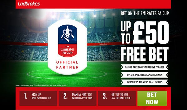 Ladbrokes FA Cup Betting Bonus