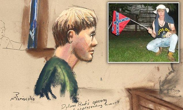 #Charleston church shooter #Dylann Roof wore shoes in court with racist #symbols drawn on  http:// dailym.ai/2inj3lP  &nbsp;  <br>http://pic.twitter.com/mYtd3PXc1B