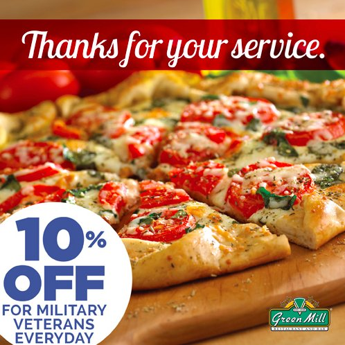 To show our appreciation, we're giving Veterans 10% off their meal every single day. https://t.co/hY9orXjnoK