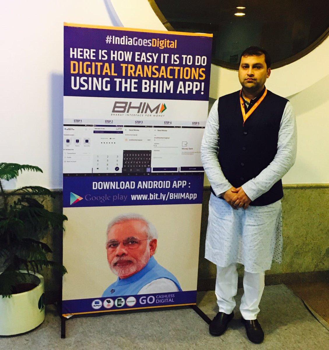 #IndiaGoesDigital use #BHIMApp for #DigitalTransactions #GoCashlessDigital @narendramodi @PMOIndia @AmitShah @ManojTiwariMP @BJP4India<br>http://pic.twitter.com/p5bUmk7GWy