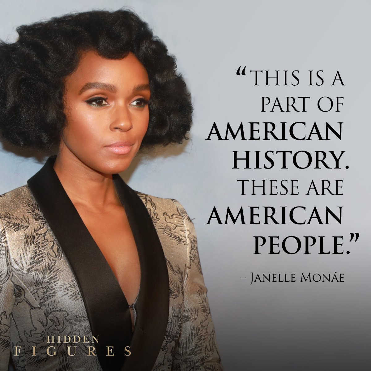 ".@JanelleMonae hopes that young girls can look to the women behind #HiddenFigures🚀 for ""hope and inspiration."" https://t.co/jXOOgWK022"