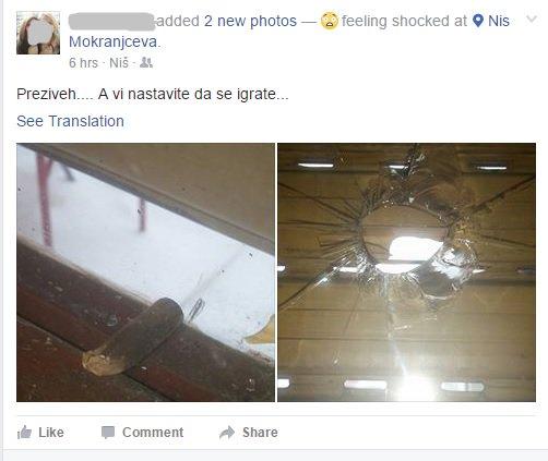 Mojoj drugarici je upraov kroz roletnu uleteo božićni metak kroz prozor. Probušio roletnu, polomio staklo. https://t.co/HMueStN9Ja