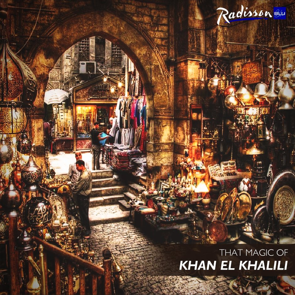 Khan El-Khalili where getting lost in the labyrinth of narrow alleys and stumbling upon hidden treasures. #RadissonBluCairoHeliopolis #Hotel https://t.co/a2BHjHe1Jd