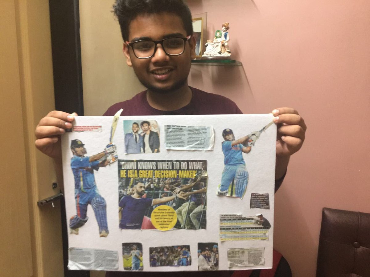 @msdhoni -My 13 year old nephew -Akash Nair a die hard fan with his dedication to one of Indians best captain #Dhoni . <br>http://pic.twitter.com/KcqwpAbso6