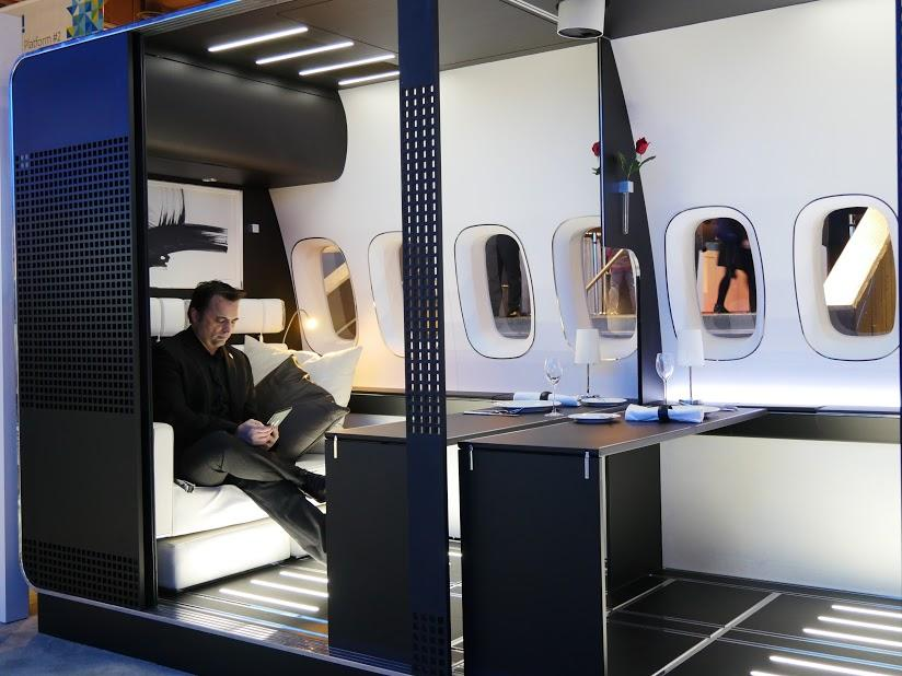 Panasonic's first-class cabin concept at #CES2017 will deliver a superior in-flight experience. #PanasonicCES https://t.co/GZUXjlTQZy