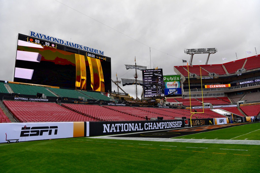 Enjoyed our visit to Raymond James Stadium today. #2Days https://t.co/nPTZb7SjTV