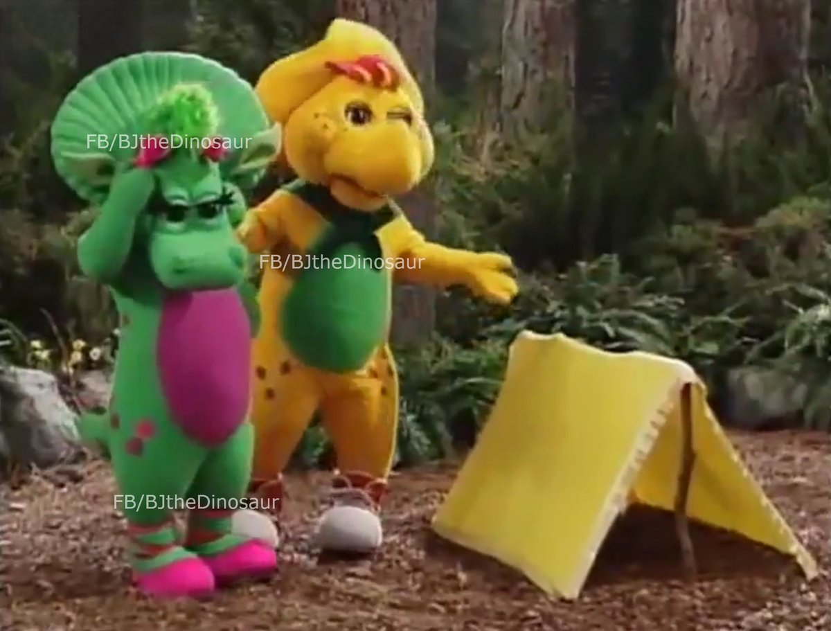 BJ the Dinosaur on Twitter Who remembers the puppy tent Sissy