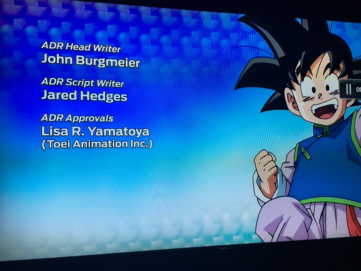 Interesting credits info. Toei approves the dub recording and some of it is recorded in LA.  #DragonBallSuper https://t.co/jcnogS7dnB
