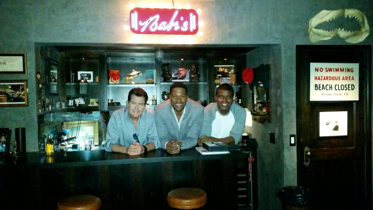 Great time talkin football with @michaelstrahan and @charliesheen http...