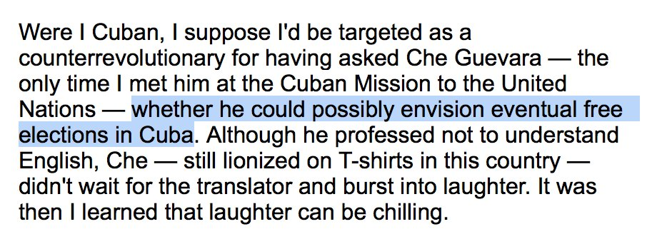 When #NatHentoff met Che Guevara, he asked him a good question. Dig how the hero to leftists everywhere responded. https://t.co/9FBbE9HXsl https://t.co/rxpNLquDDo